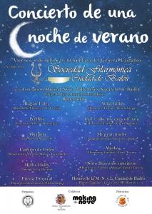 Cartel Concierto Una Noche de Verano copia
